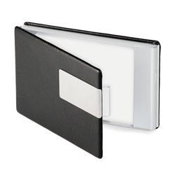 business card case - black - silver
