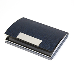 business card holder ATLAS - blue